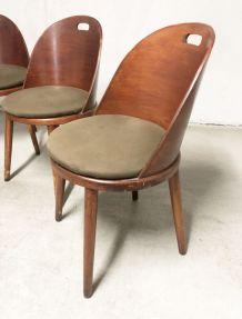Chaises bistrot vintage 70's pieds compas