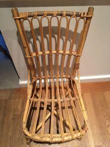 Paire de chaises rotin