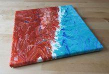 Peinture réalisée à l'acrylique sur toile coton,