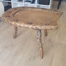 Table basse bois tripod