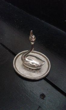 Cygne metal argenté
