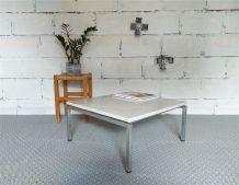 Table basse années 60 vintage marbre