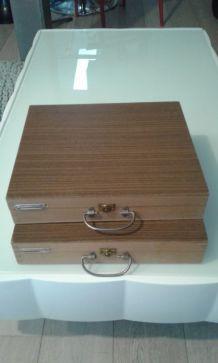 Mallette en bois vintage