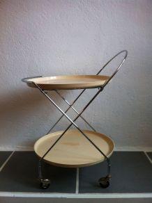 Table roulante pliante vintage 70'
