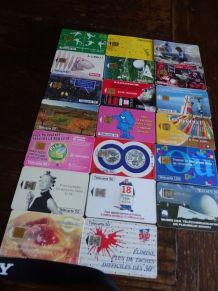 lot de 29 cartes téléphoniques