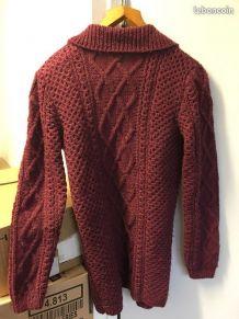 Gilet grosse maille tricoté