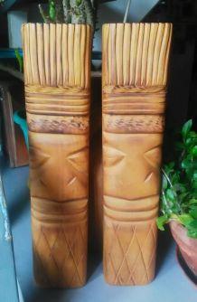 deux sculptures sur bois - Artisanat