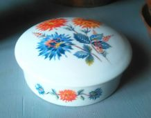 Boite ronde en porcelaine de Limoges