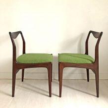 Paire de chaises scandinave 60's