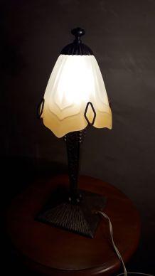 lampe   art deco  style muller schneider