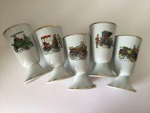 Lot 5 mazagrans tasses à thé porcelaine de Limoges