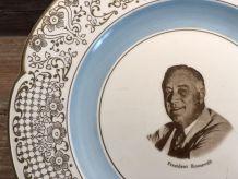 Assiette de Collection Président Roosevelt