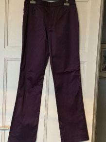 Pantalon droit prune ET VOUS vintage