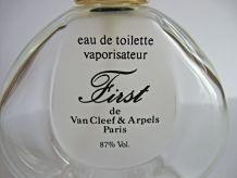 Flacon d'eau de toilette vide, vintage