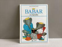 Babar en famille livre enfant vintage 1990