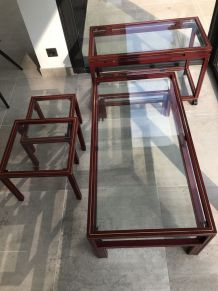 LOT TABLES DESIGN P.VANDEL bordeaux