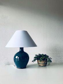 Lampe en terre cuite émaillée