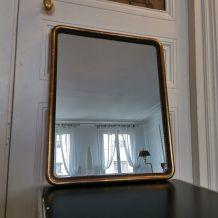 Miroir bois doré 19 ème perles d'eau
