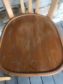 chaises  Baumann  bistrot bois