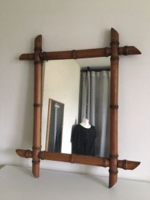 Miroir vintage  bambou