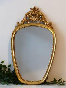 Miroir doré 56x33
