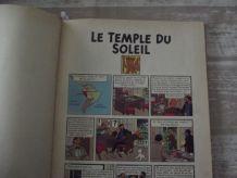 TINTIN .le temple du soleil Dos rouge. 4ème plat