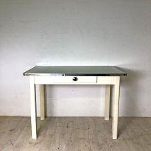 Table en bois et formica vintage 50's