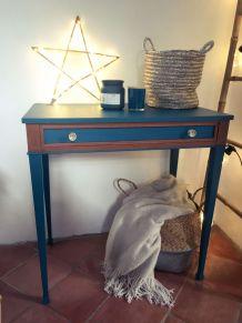 Table d'appoint vintage bleu