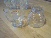 8 petits verres a café moka  ancien vintage