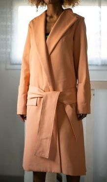 Manteau trench corail neuf