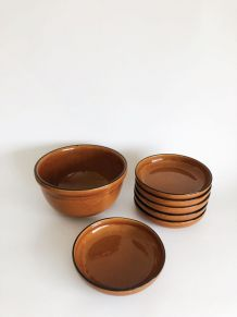 Lot 6 assiettes et saladier