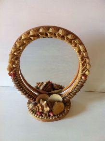 Miroir vintage décor coquillage