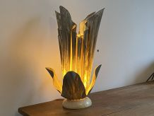 Lampe Vintage Georgia JACOB. Modèle COROLLE. 1970.