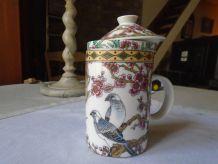 Tisanière porcelaine