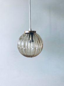 Suspension vintage boule en verre