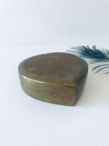 Boîte cœur en laiton