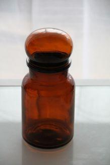 Pot d'apothicaire vintage marron