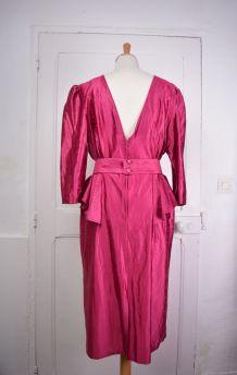 Robe de soirée péplum des années 80