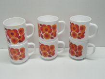 Lot de 6 mugs fleur de Lotus
