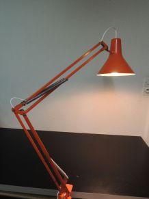 Lampe d'architecte orange