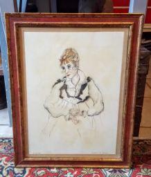 Tableau : dessin d'après E.Schiele