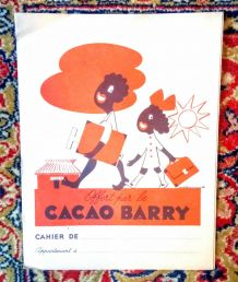 "Ancien protège cahier publicitaire ""cacao Barry"""