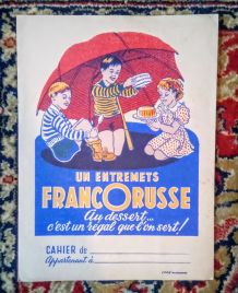 Ancien protège-cahier publicitaire
