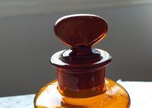 Flacon d'apothicaire ambre
