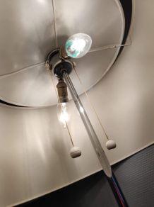 lampadaire liseuse Monix ,pied noir, structure métal chromé