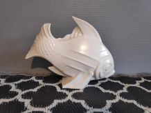 poisson en céramique craquelée signé LeJan années 30
