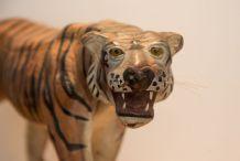 Tigre papier mâché ancien