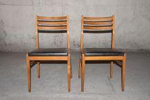 Paire de chaises vintage années 60