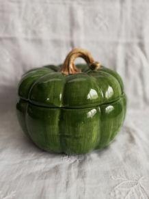 Pot en céramique vintage citrouille