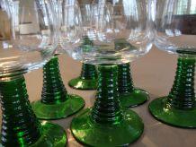 6 verres à vin d'Alsace